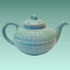 Hall China 1940s Light Blue Murphy Teapot - Victorian Series
