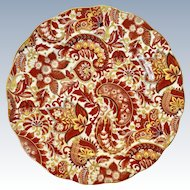 Royal Standard Bone China #1445 Rust-Brown Paisley Chintz Luncheon Plate