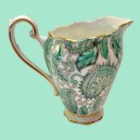 Royal Standard Bone China #1445 Green Paisley Chintz Creamer
