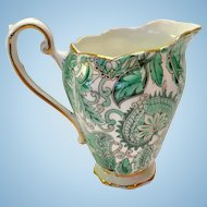 Royal Standard Bone China #1445 Green Paisley Chintz Creamer