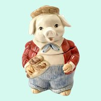 Otagiri Anthropomorphic Pig Jam Jar with Spoon