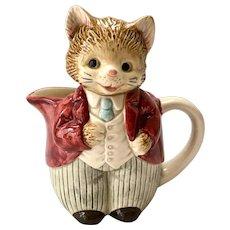 Otagiri Japan Anthropomorphic Whiskers Kitten Creamer Pitcher