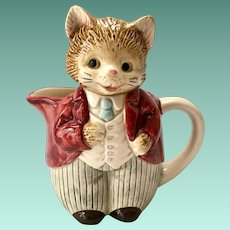 Otagiri Japan Anthropomorphic Whiskers Kitten Creamer Pitcher