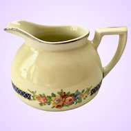 Hall China Blue Bouquet Boston Shape Creamer
