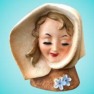 Lady in Brown Hood Bette Davis Look-Alike Head Vase Wales Made in Japan