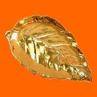 Royal Winton Grimwades Golden Age Large Leaf-Shaped Gold Serving Dish