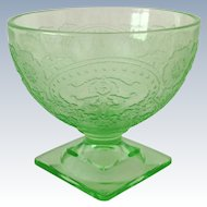 Indiana Horseshoe Number 612 Green Depression Glass Sherbets Set of Three