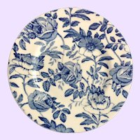 Myott England Blue Peony and Rose Bread and Butter Plate