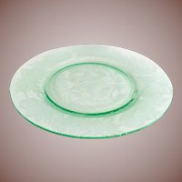 MacBeth-Evans Thistle Green Depression Glass Luncheon Plate