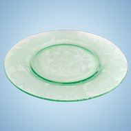 MacBeth-Evans Thistle Green Depression Glass Luncheon Plate