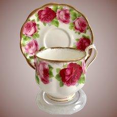 Royal Albert Bone China Old English Rose Teacup and Saucer