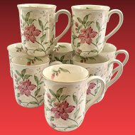 Otagiri Prima Floral Coffee Mugs Set of Eight