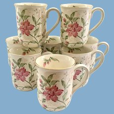 Otagiri Prima Floral Coffee Mugs Set of Eight