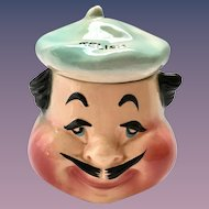 American Bisque French Chef Anthropomorphic Man in Beret Relish Dish