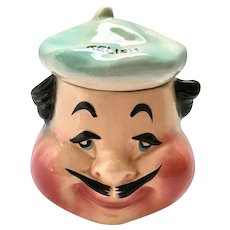 French Chef Anthropomorphic Man in Beret Relish Dish by American Bisque