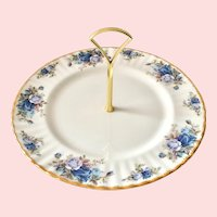 Royal Albert England Moonlight Rose Center Handle Bone China Serving Plate