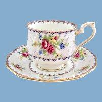 Royal Albert Petit Point Bone China Teacup and Saucer