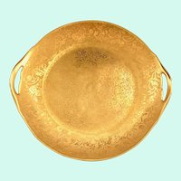 Stouffer Studios Gold Encrusted Two-Handled Serving Plate Thomas Bavaria
