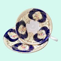 Samuel Radford's Regent 4864 Cobalt English Bone China Teacup and Saucer circa 1930s