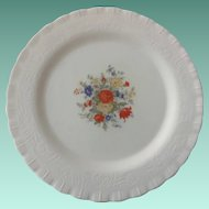 Chinex Classic White Depression Glass Center Floral Design 11-1/2 inch Sandwich Plate
