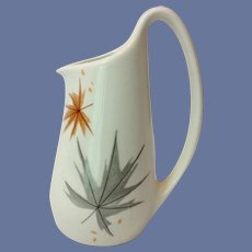 Iroquois Ben Seibel Harvest Time Mid Century Creamer Brown and Silver Leaves