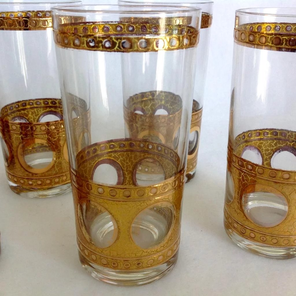 Rim Shop Near Me >> West Virginia Glass Gold Crackles and Circles Mid Century Martini : Maggie Belle's Memories ...