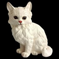 Lefton China White Persian Cat Figurine #1514