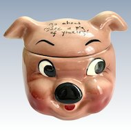 DeForest Pottery of California Go Ahead Make a Pig of Yourself Cookie Jar
