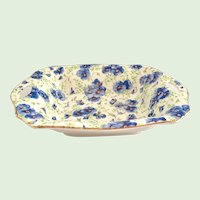 Lord Nelson Ware, England Pansy Chintz Sweetmeat Dish Pierced Handles