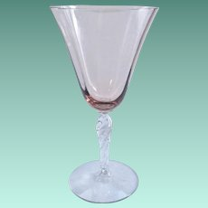 Fostoria Orchid Twisted Stem 5097 Elegant Glass Water Goblets
