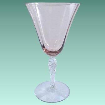 Fostoria Orchid Twisted Stem 5097 Elegant Glass Water Goblets