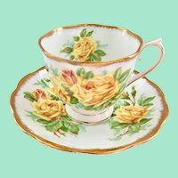 Royal Albert Tea Rose Yellow Bone China Teacup and Saucer