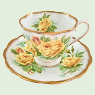 Royal Albert Tea Rose Yellow Bone China Teacup and Saucer