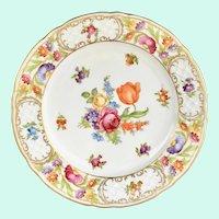Empress Dresden Flowers Schumann Bavaria Porcelain Salad Plate