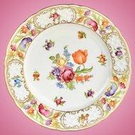 Empress Dresden Flowers Schumann Bavaria Salad Plate