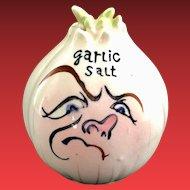 Anthropomorphic Frowning Onion Garlic Salt Shaker