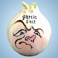Anthropomorphic Frowning Onion Garlic Salt Shaker
