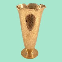 Daisy Fields Etch #0500 AOG Encrusted Glass Vase by Lotus Glass Decorators