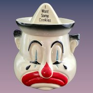 American Bisque for Cardinal Sad Clown Cookie Jar