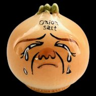 Vintage 1950s Crying Onion Anthropomorphic Onion Salt Shaker