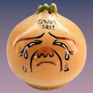 Vintage 1950s Crying Onion Anthropomorphic Onion Salt Shaker