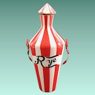 Country Club By Yona for Shafford Red and White Striped Bar Bottle Rye