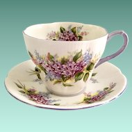 Royal Albert Lilac Blossom Time Series Bone China Teacup and Saucer
