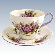Royal Albert Lilac Blossom Time Series Bone China Teacup and Saucer
