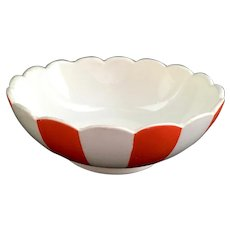 Country Club By Yona for Shafford Red and White Striped Small Bowl