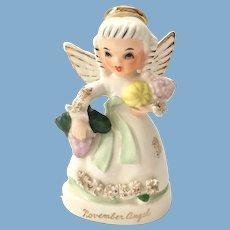 Napco November Birthday Angel A1371 Figurine with Harvest Vegetables
