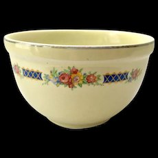 Hall China Blue Bouquet Thick Rim 6-Inch Small Mixing Bowl
