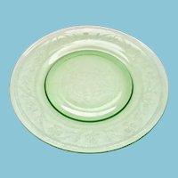 Hazel-Atlas Green Cloverleaf Depression Glass Luncheon Plates