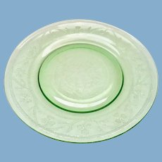 Hazel-Atlas Green Cloverleaf Depression Glass Luncheon Plates