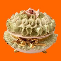 Heirlooms of Tomorrow California Porcelain Lace Covered Trinket Box